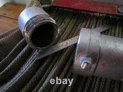 100' FIRE HOSE ELKHART BRASS CO. 150 PSI S-41 RACK PIN MOUNT (no nozzle)