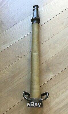 1930 Vintage 30 Brass Fire Hose Pipe Nozzle Original Chicago W. D. Allen Rare