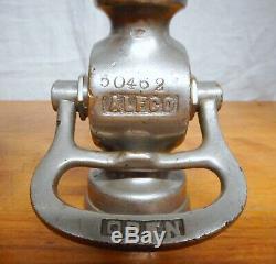 2 Antique ALFCO Fire Hose Nozzles Brass & Nickel Plated
