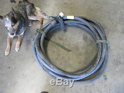 50' Fire Extinguisher Hose with Task Force Tips Nozzle & CHT Brass Fittings 7/8
