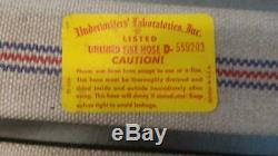 75' Linen Unlined Fire Fighting Hose Assembly White With Stripe Made In USA (h1)