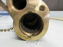 AKRON 2-1/2 BRASS FOG NOZZLE COAST GUARD FIRE With HV25 TIP NEW NO BOX M/O
