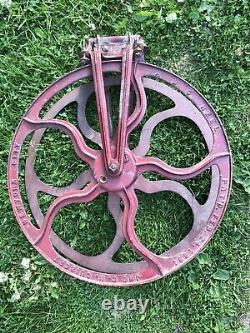 Antique 1891 G. N. Guibert New York City Fire Hose ABC Reel Cast Iron Exc