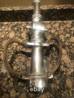 Antique 18 American LaFrance Fire Hose Nozzle Elmira NY foamite corp Fireman