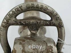 Antique 1917 Elkhart Brass Fire Hose Nozzel 19