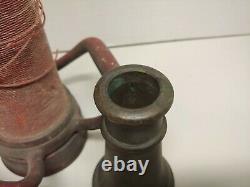 Antique Brass Fireman Fire Hose Nozzle Monitor 30 L WS Nott Company Minnesota