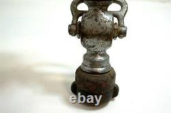 Antique COLT W. S. DARLEY & CO brass firemans Fire Hose Nozzle 11 tall
