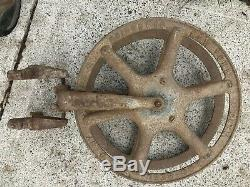 Antique Cliff And Guibert Fire Hose Reel, Patent 1890, Safety, Cast Iron