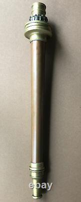 Antique Copper Brass E. Bergstrom &Co. Fire nozzle Stockholm Sweden RARE