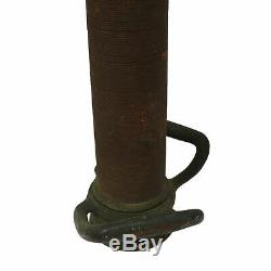 Antique EUREKA FIRE HOSE CO. NOZZLE 30 Wrapped Brass DATED 1905 Superb Patina