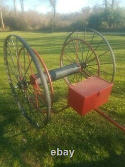 Antique Fire Fighters Extinguisher Hose Reel Cart