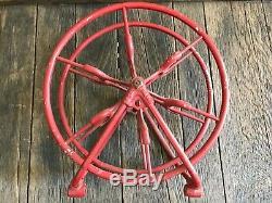 Antique Fire Hose Reel, W&K CoFire Hose Reel, Wirt & Knox Fire Hose Reel