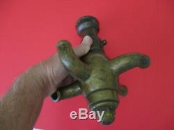 Antique Fire Nozzle Cellar Nozzle Solid Brass Very Rare