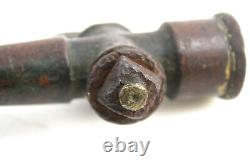 Antique Small Brass Fireman Firefighting Fire Hose Nozzle with Petcock Valve