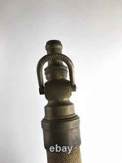 Antique U. S. R. CO. Fire Hose / Nozzle 31 1/2 10146