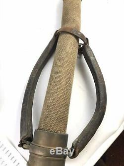 Antique U. S. R. CO. Fire Hose / Nozzle 31 1/2 10146