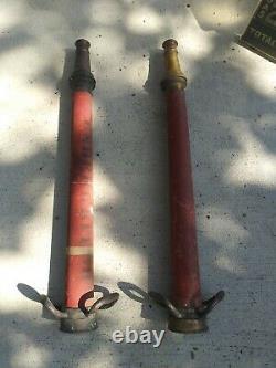 Antique Vintage Copper and Brass Fireman's Fire Hose Nozzle