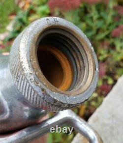 Antique Vintage Original Akron Brass Fire Hose Jet Nozzle