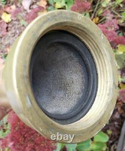 Antique Vintage Original Solid Brass Fire Hose Nozzle 12