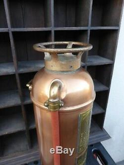 Antique Vintage Pacific Fire Extinguisher Copper/Brass Display Only