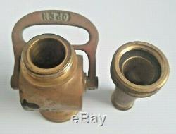 Antique Vintage Powhatan Brass Fire Hose Nozzle