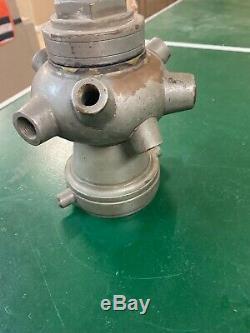 Antique fire nozzle cellar nozzle elkhart brass