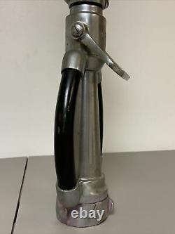 BEAUTIFUL ELKHART BRASS CO. 20.5 INCH Stainless Steel Double Handle FIRE NOZZLE