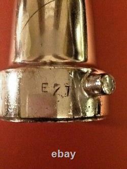 Big, BIG, BIIGGG Antique Nickel Plated Brass Fire Hose Nozzle