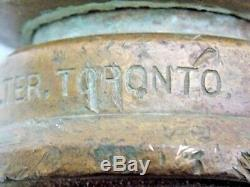 Booth-Coulter Toronto Fire Hose Brass Nozzle Antique Heavy Duty EUC
