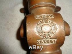 Brass Fire Nozzle Vintage Akron fire fighting equipment AKRO BALL 2283985 748808