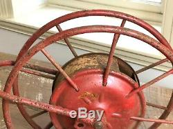 Early Antique Wirth & Knox Co. Fire Hose Reel Red