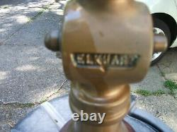Elkhart 13 Inch Vintage Brass Fire Hose Nozzle. With Handle