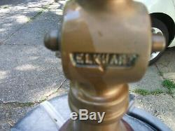 Elkhart 17 Inch Vintage Brass Fire Hose Nozzle. With Handle
