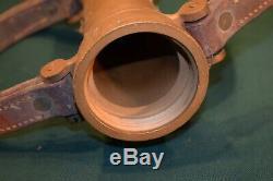 Elkhart Brass Fire Hose Nozzle Pat 1917 19 Leather Grips