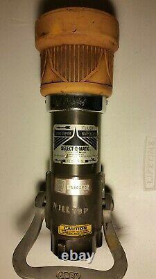 Elkhart Brass SM-30F Select-O-Matic 1.5 Fire Hose Nozzle Horseshoe Handle III