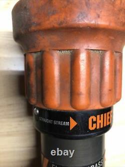 Elkhart Chief 4000-10 Fire Hose Nozzle Fog/ Straight Stream 1 1/2