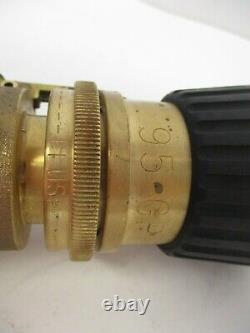 Elkhart, M24408-t1-1, Navy Firehose Nozzle, Grip Cast Brass 1.5 Npsh