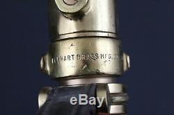 Elkhart, OCD 102, General, Vintage Brass Fire Department Hose Nozzle 30