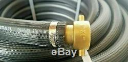 FIRE FIGHTING HOSE REEL KIT BRASS FITTED NOZZLE BLACK 25mm 1 x 20m SAFETY UV