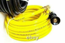 FIRE FIGHTING YELLOW HOSE 20mm 3/4 36m COIL FITTED BRASS NOZZLE BONUS LEVER GUN