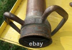 Fire Deaprtment Large Antique Fire Hose Nozzle Collection Firefighting Rescue