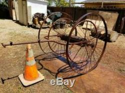 Fire Department Hose Cart, constructed of steel, considered in good condition