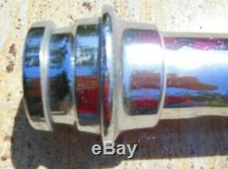 Fire Hose Nozzle Chromed Brass & Copper Gharles Winn & Co Antique Vintage