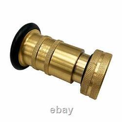 Fire Hose Nozzle NPSH/NPT Thermoplastic Fire Equipment Spray Jet 2 Inch Brass