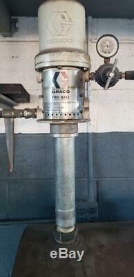 Graco fire-ball air powered oil drum pump asy incl 100 gal drum hose/reel nozzle