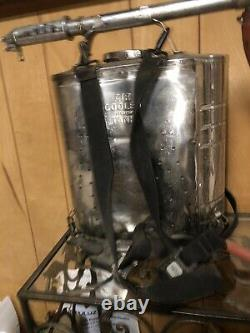 Indian Fire Pump D. B. Smith & Co. Utica NY Firefighter Equipment Vintag3 Dented