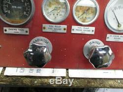 John Bean Fire Engine Pump Truck Pumper Gauge Control Panel