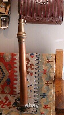 Large 30 Inch Antique Copper And Brass Fire Hose Nozzle
