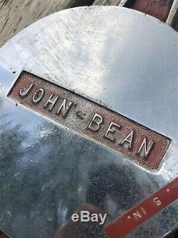 Large John Bean Brass Chrome Fire Engine Truck Hose Pump Cap Vintage