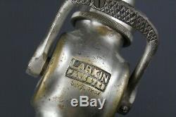 Larkin, Dayton, OH, 1927 Vintage Brass Fire Department Hose Nozzle 29